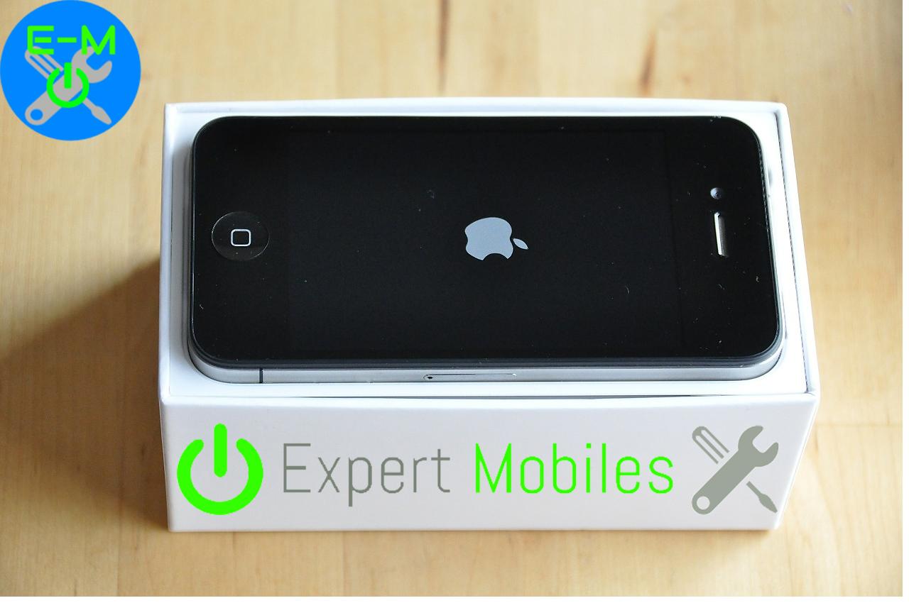 Iphone 5 dans sa boite et logo expert mobiles - Reparation telephone lorient ...