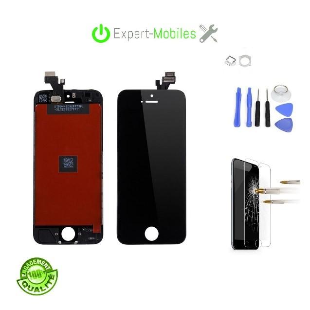 Ecran adaptable de remplacement pour iphone se noir - Reparation telephone lorient ...
