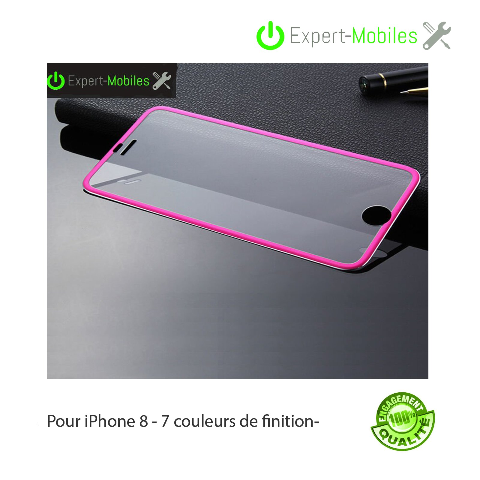 Verre tremp iphone 8 titanium em 2 1 expert mobiles - Reparation telephone lorient ...