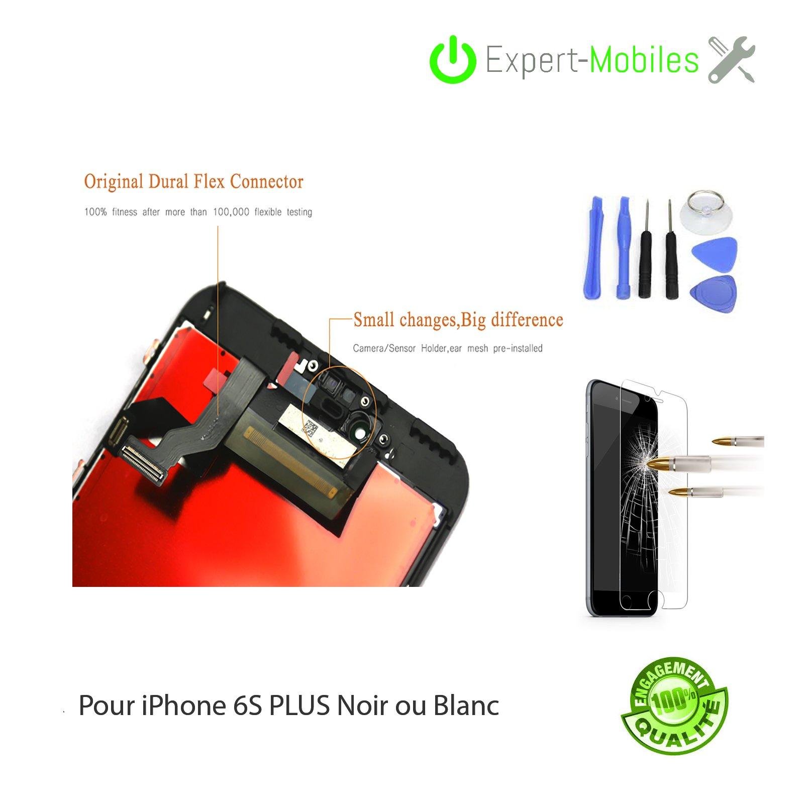 Ecran iphone 6s plus noir ou blanc em 2 expert mobiles - Reparation telephone lorient ...