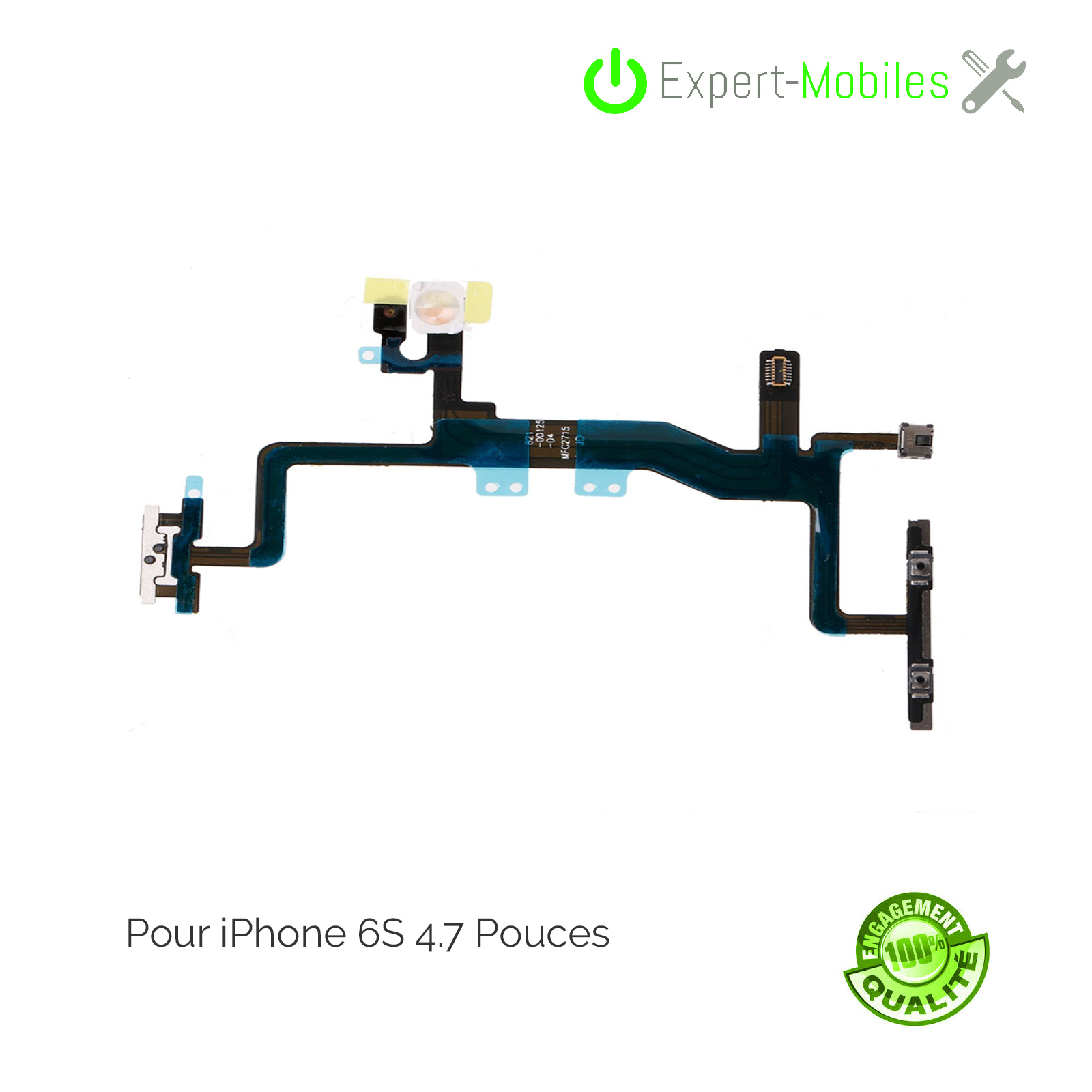 Nappe on off iphone 6s em 1 expert mobiles - Reparation telephone lorient ...